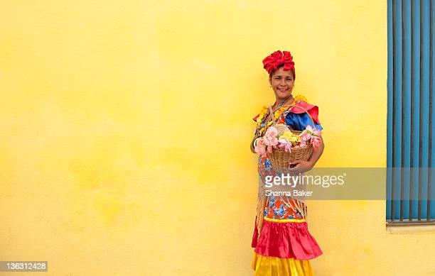 Cuban woman in colourful dress