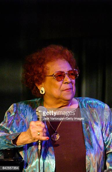 Cubanborn American singer Graciela performs at Candido Camero's 83rd birthday party at the Blue Note New York New York April 26 2004 Known as 'The...