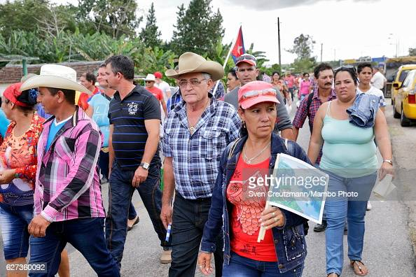 Cubans leave after the caravan with the remains of late Revolution leader Fidel Castro passed by on December 1 in Maja Cuba Cubas former President...