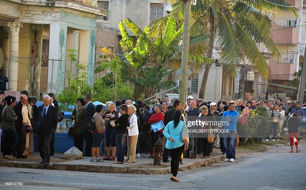 Cubans line up in front of the United States Interests Section (SINA) in Havana to get the visa to travel to the U.S. on March 11, 2013. After years of being denied the right to leave their country, the Cuban dissidents began to travel in numbers around the world to spread their ideas and to seek for support.