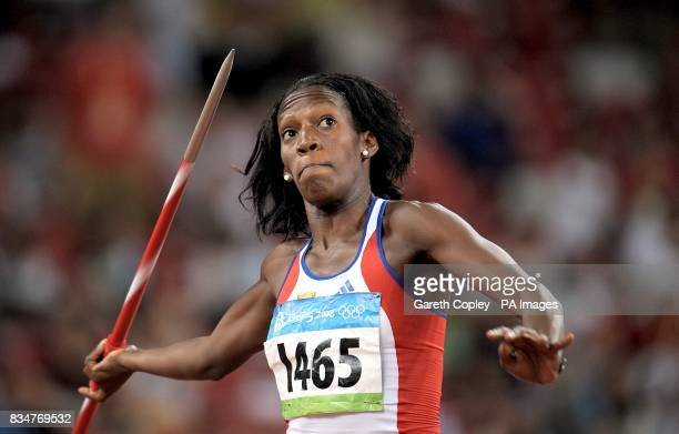 Cuba's Gretchen Quintana during the Heptathlon Javelin Throw at the 2008 Olympic Games in Beijing