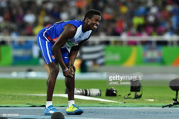 Cuba's Leonel Suarez competes in the Men's Decathlon Javelin Throw during the athletics event at the Rio 2016 Olympic Games at the Olympic Stadium in...