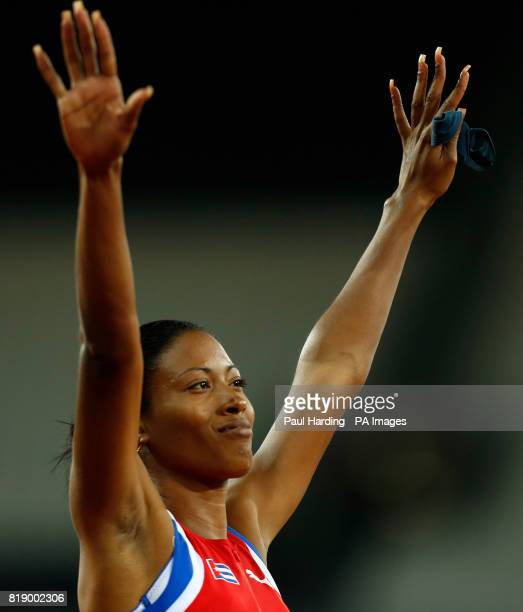 Cuba's Omara Durand celebrates gold in the Women's 400m T12 final during day six of the 2017 World Para Athletics Championships at London Stadium
