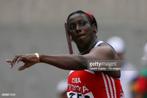 Cuba's Sonia Bisset competes in the Javelin