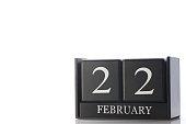 cube calendar on white background