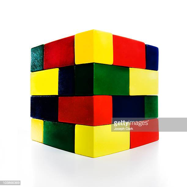 Cube of building blocks