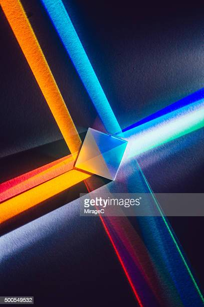 Cube Prism with Colorful X Shape Spectrum