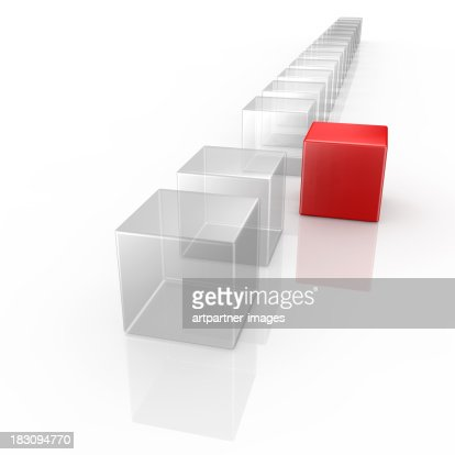 cubes - 1 standing out from the crowd : Stock Photo