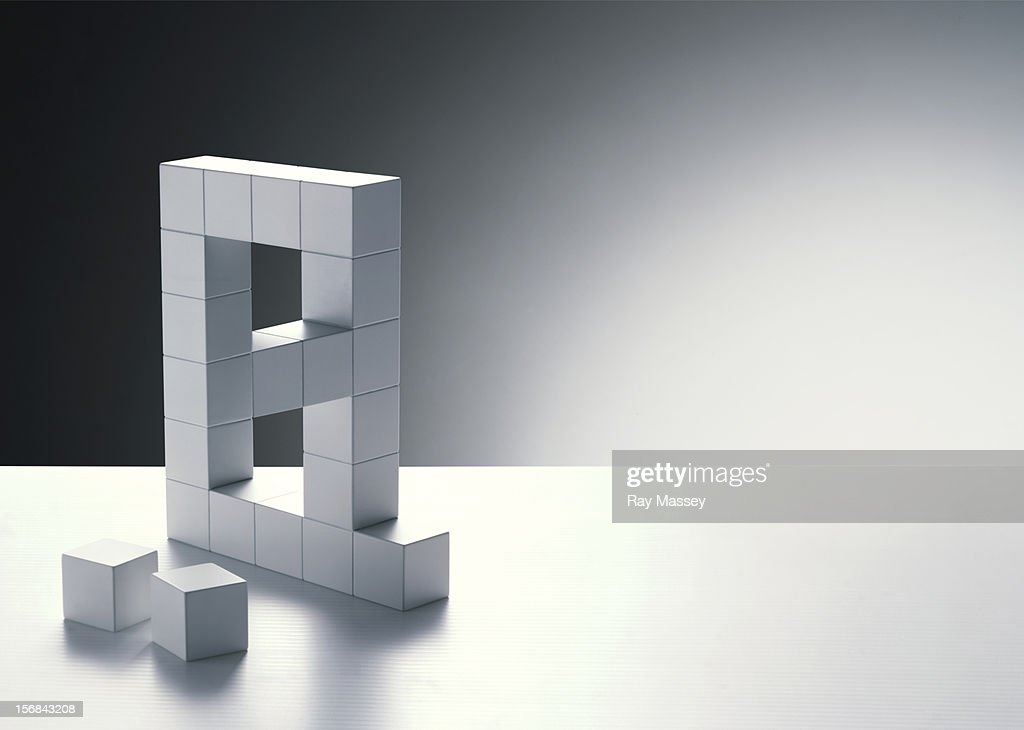 Cubes forming letter A : Stock Photo