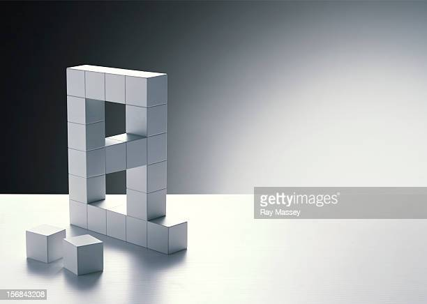 Cubes forming letter A