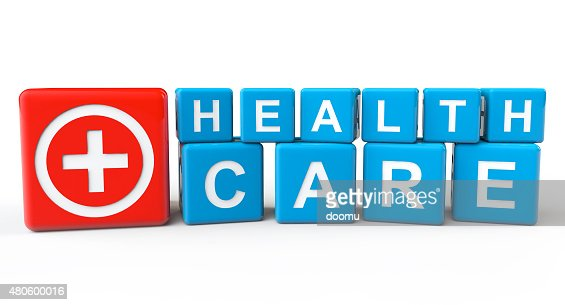 Cubes with Health Care sign : Stock Photo