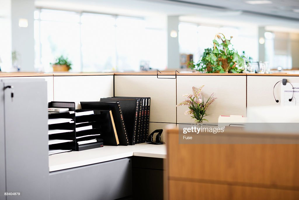 Cubicle in Office : Stock Photo