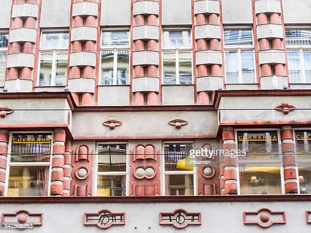 Cubist facade (detail), Prague