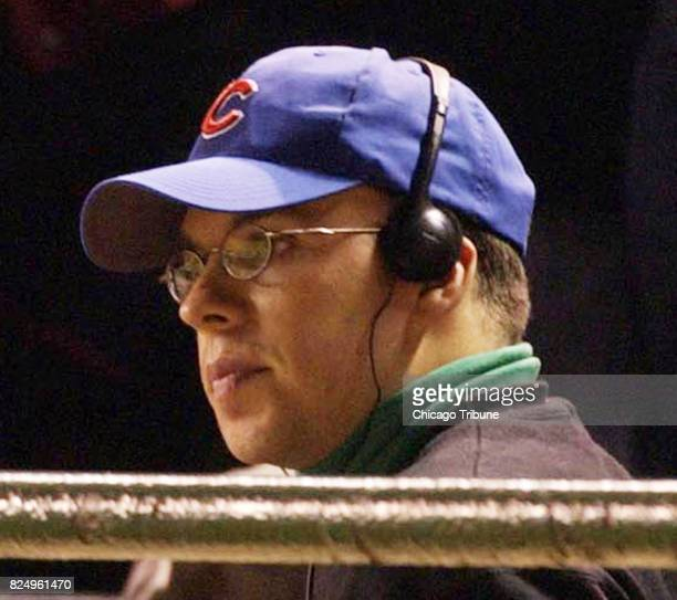Cubs' fan Steve Bartman who interfered with a Moises Alou catch in the eighth inning of game six of the NLCS sits in the stands on Tuesday October 14...