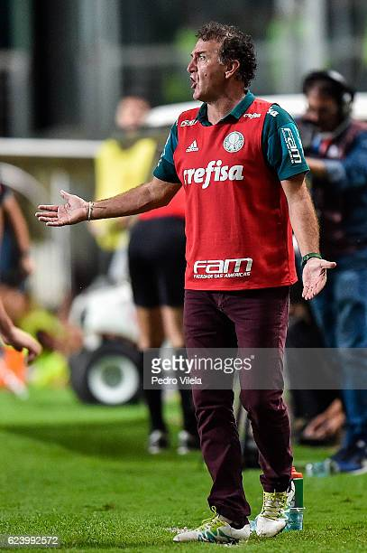 Cuca coach of Palmeiras a match between Atletico MG and Palmeiras as part of Brasileirao Series A 2016 at Independencia stadium on November 17 2016...