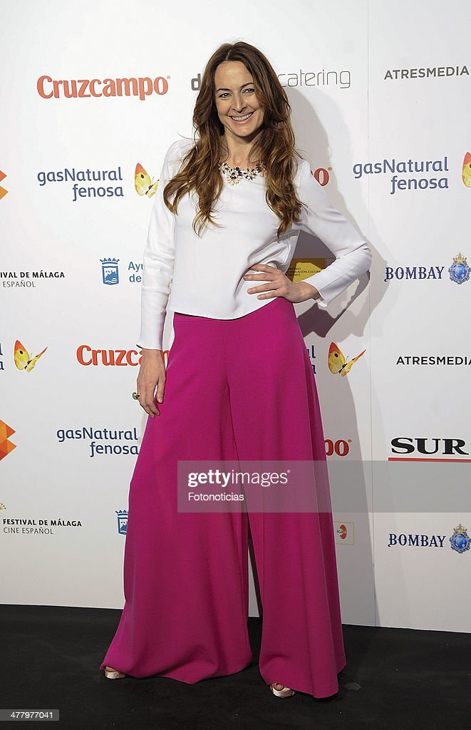 Cuca Escribano attends the Malaga Film Festival cocktail presentation at TClub on March 11, 2014 in Madrid, Spain.