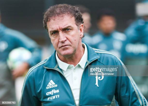 Cuca head coach in action during the match between Palmeiras and Gremio for the Brasileirao Series A 2017 at Pacaembu Stadium on July 01 2017 in Sao...