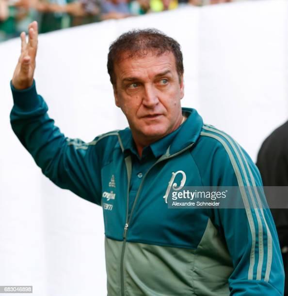 Cuca head coach of Palmeiras enter the fiald before the match between Palmeiras and Vasco da Gama for the Brasileirao Series A 2017 at Allianz Parque...