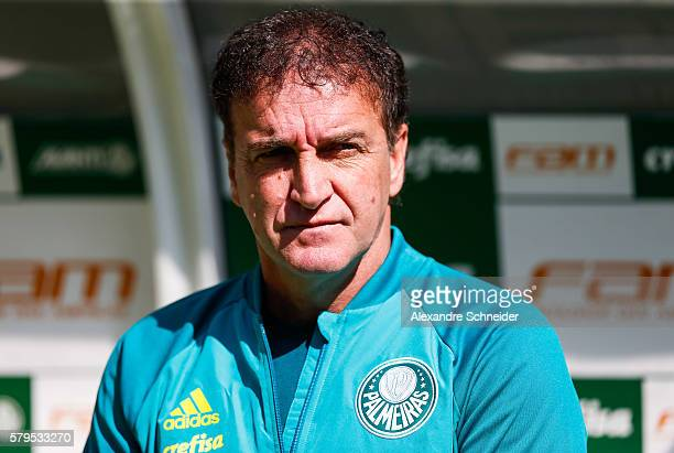 Cuca head coach of Palmeiras in action during the match between Palmeiras and Atletico MG for the Brazilian Series A 2016 at Allianz Parque stadium...
