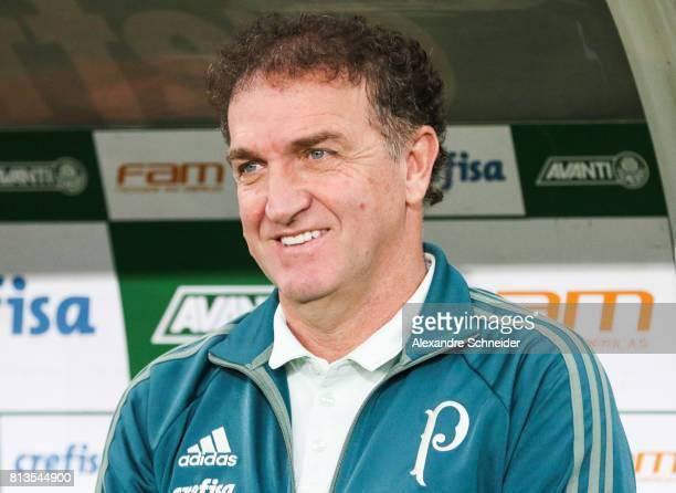 Cuca head coach of Palmeiras in action during the match between Palmeiras and Corinthians for the Brasileirao Series A 2017 at Allianz Parque Stadium...