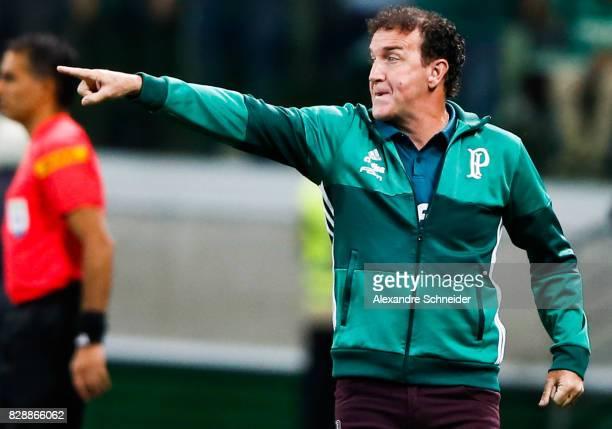 Cuca head coach of Palmeiras in action during the match between Palmeiras and Barcelona de Guayaquil for the Copa Bridgestone Libertadores 2017 at...