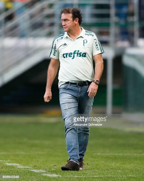 Cuca head coach of Palmeiras in action during the match between Palmeiras and Sao Paulo for the Brasileirao Series A 2017 at Allianz Parque Stadium...