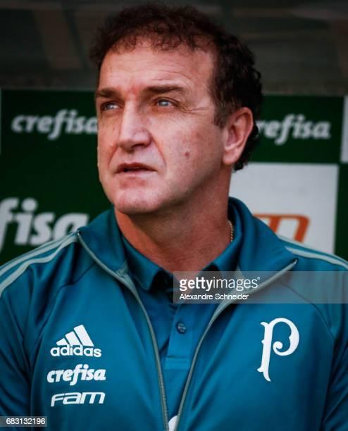 Cuca head coach of Palmeiras looks on before the match between Palmeiras and Vasco da Gama for the Brasileirao Series A 2017 at Allianz Parque...