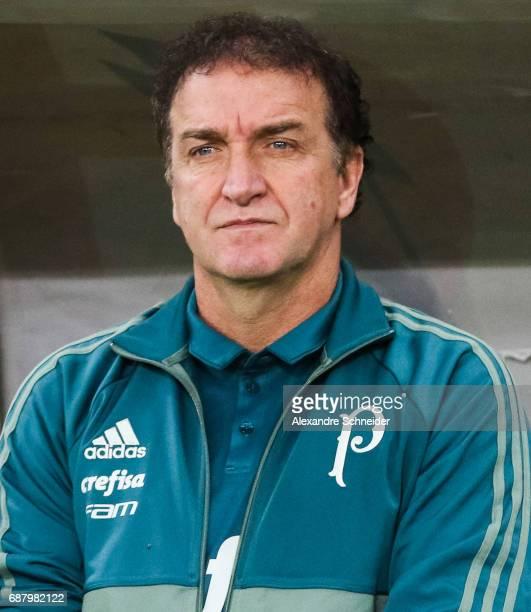Cuca head coach of Palmeiras of Brazil before during the match between Palmeiras and Atletico Tucuman for the Copa Bridgestone Libertadores 2017 at...