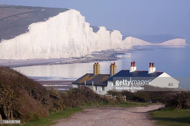 Cuckmere Haven nell'East Sussex, Inghilterra