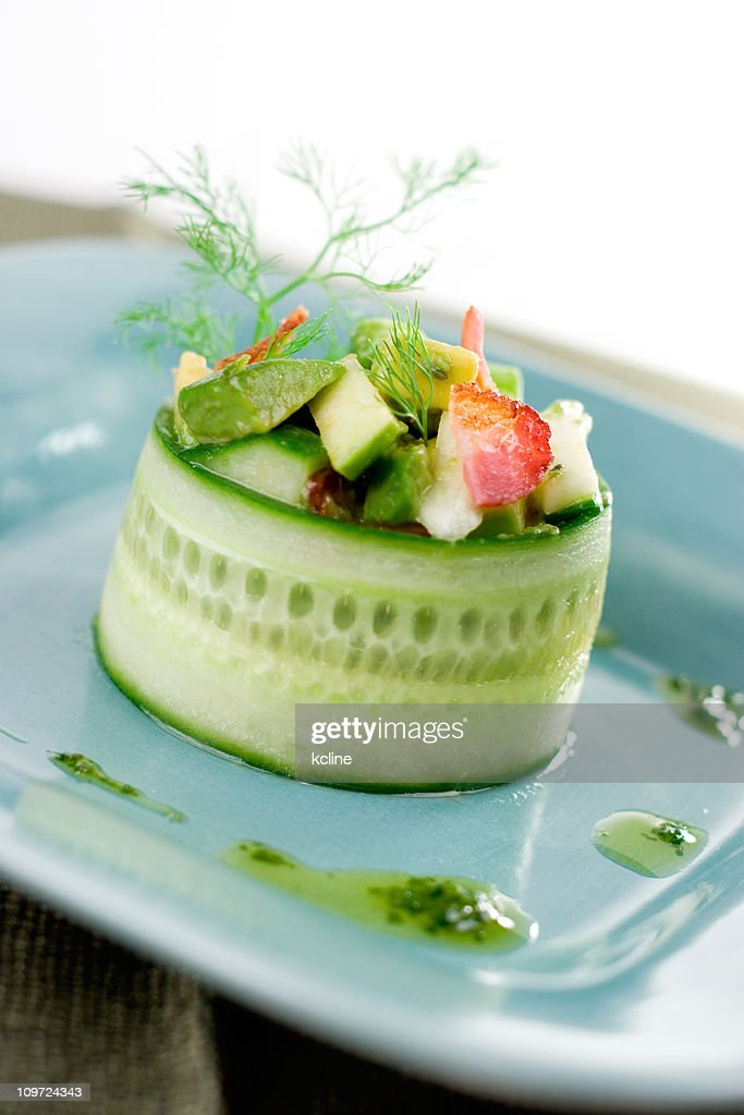 Cucumber Avocado Salad : Stock Photo