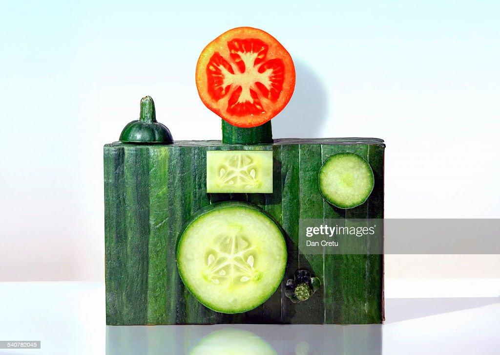 Cucumber Camera : Stock Photo