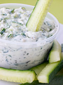Cucumber Dipped In Tzatziki
