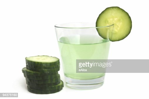 Cucumber drink : Stock Photo