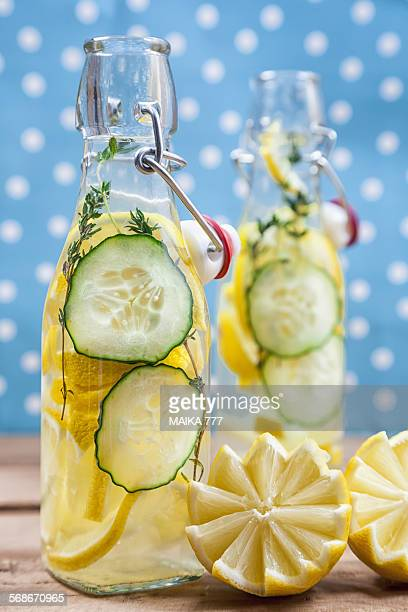 Cucumber, lemon and thyme infused water