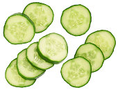 fresh cucumbers isolated on a white background
