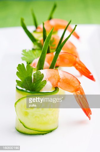 cucumber roll : Stock Photo