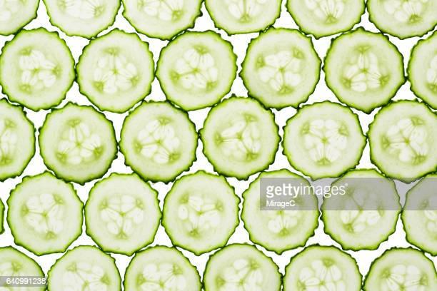 Cucumber Slices Full Frame Shot