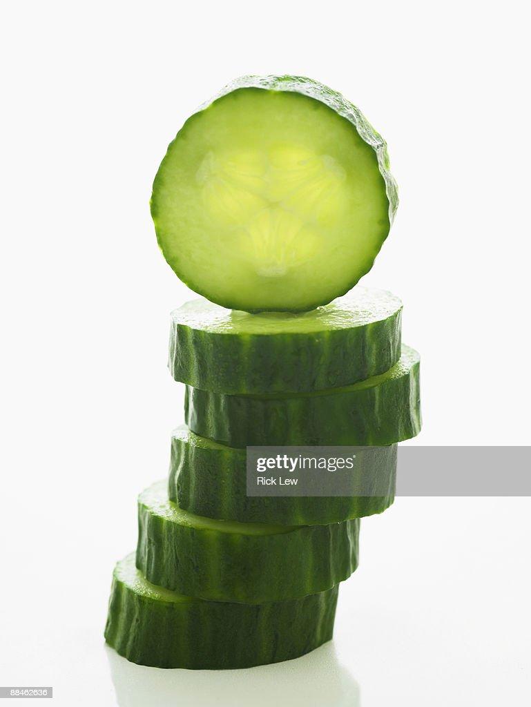 cucumber slices : Stock Photo