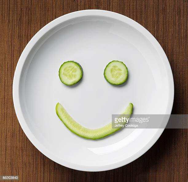 Cucumber Smiley Face