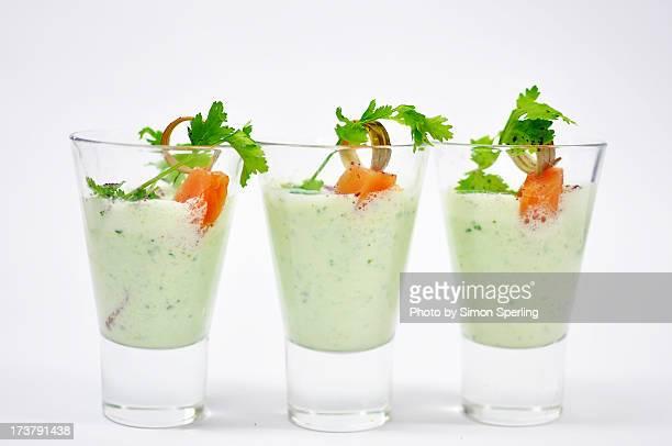 cucumber yoghurt soup shooters