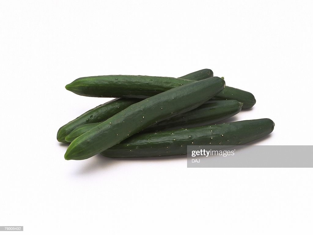 Cucumbers, high angle view : Stock Photo