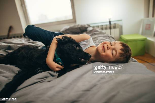 Cuddling in the bedroom