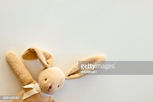 Cuddly toy rabbit, close up