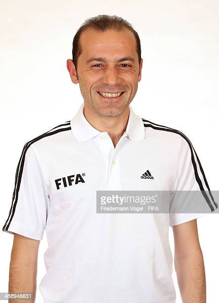 Cueneyt Cakir poses during the Workshop for Prospective Referees for the 2014 FIFA World Cup at the Windsor Barra Hotel on May 27 2013 in Rio de...