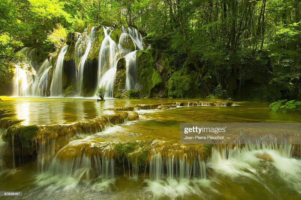 Cuisance waterfall Jura France
