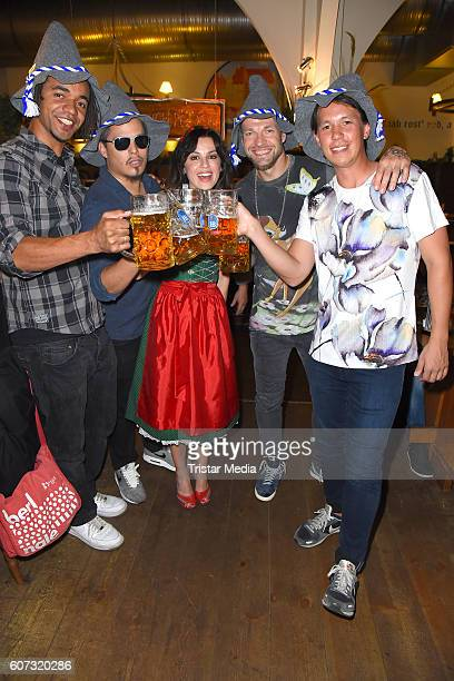 Culcha Candela and Natalia Avelon attend the WiesnAnstich im Hofbraeuhaus Berlin on September 17 2016 in Berlin Germany