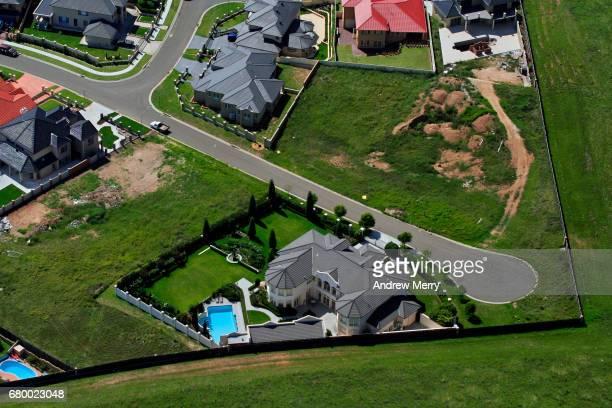 Cul-de-sac, Cecil Hills, Western Sydney, Aerial Photography