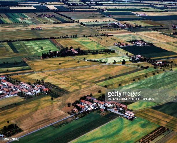 Cultivated fields in the area of Piacenza EmiliaRomagna Italy