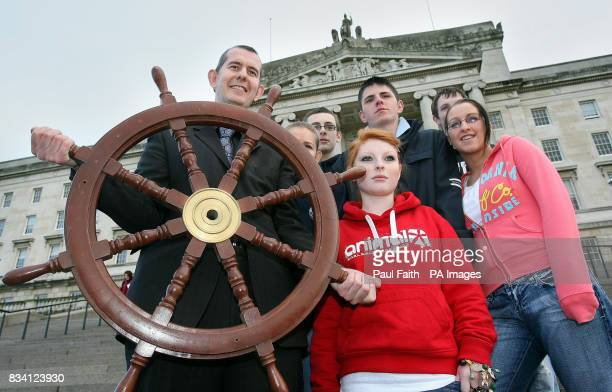 Cultural Arts and Leisure Minister Edwin Poots launches this years Tall Ships Atlantic 2009 challenge at Stormont Belfast