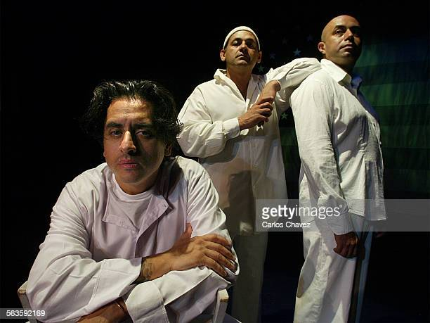 'Culture Clash in America' a theater satire show with noted Chicano–Latino performance troupe Culture Clash Members are left to right Richard Montoya...